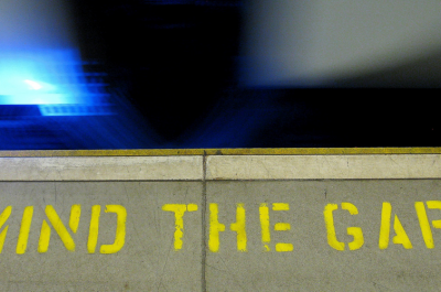 mind the gap (adapted) (Image by Pawel Loj [CC BY 2.0] via Flickr)