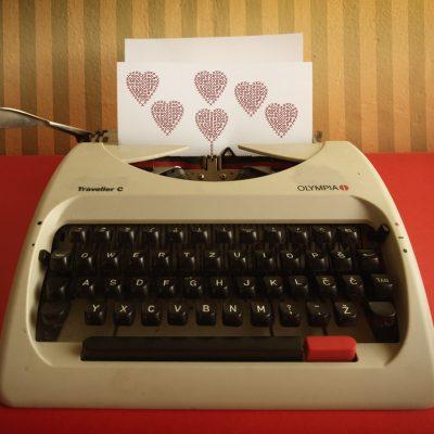 typewriter love (adapted) (Image by Asja Boroš [CC BY 20] via flickr)