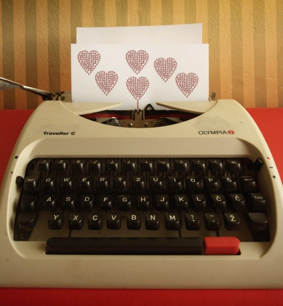 typewriter love (adapted) (Image by Asja Boroš [CC BY 20] via flickr)