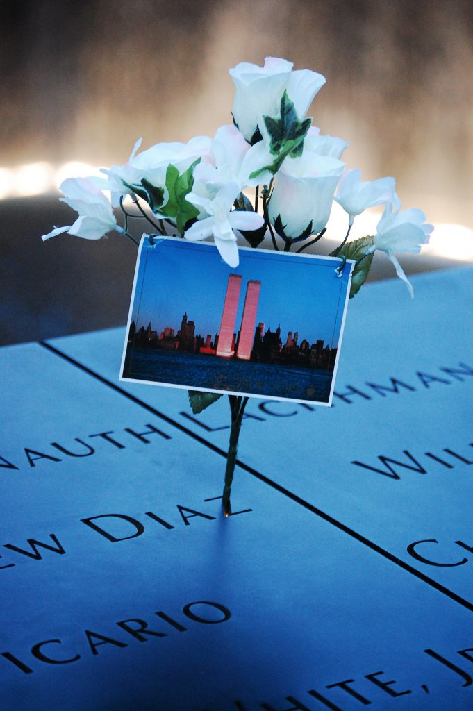 911 Memorial (adapted) (Image by Rebecca Wilson [CC BY 2.0] via Flickr)