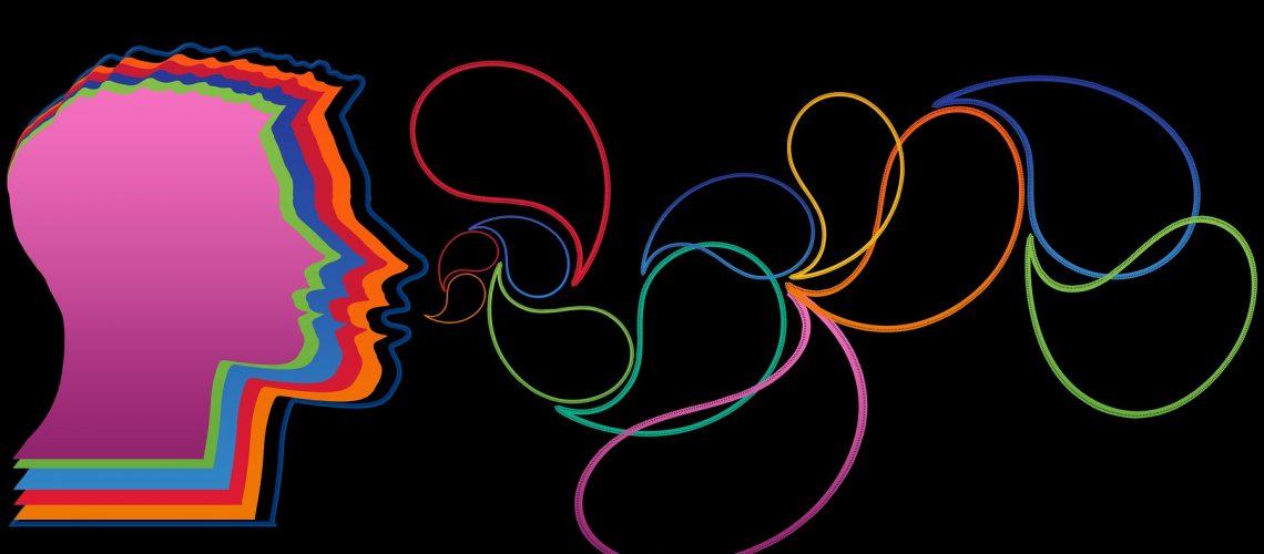 Kommunikation Kopf Sprechblasen Mann Denken (adapted) (Image by geralt [CC0 Public Domain] via pixabay)