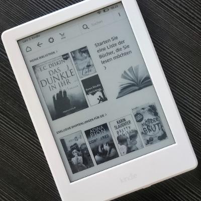 Amazon Kindle Startbildschirm (Image by Jennifer Eilitz)