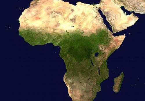 Afrika (adapted) (Image by WikiImages [CC0 Public Domain] via pixabay)