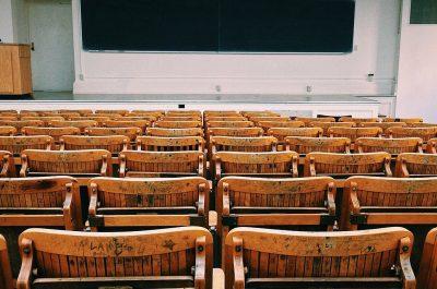 Classroom (adapted) (Image by Wokandapix)(CC0 Public Domain) via Pixabay