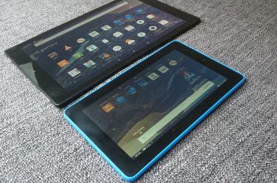 Amazon Fire Tablet Größenvergleich