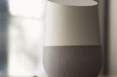 Google Home tech _ When using this image please provide phot… _ Flickr (adapted) (image by NDB Photos [CC BY-SA 2.0] via flickr)