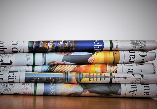 newspaper (adapted) (image by bykst [CC0] via pixabay)