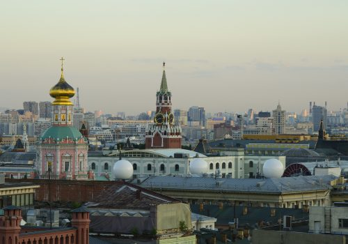 Moscow Rooftops (adapted) (Image by Evgeny) [CC0 Public Domain] via Pixabay