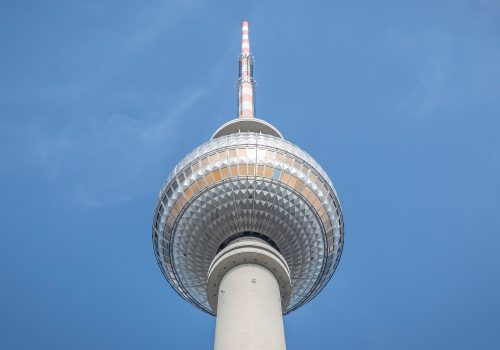Tower, television tower, blue sky and tall (adapted) (Image by Markus Spiske [CC0 Public Domain] via Unsplash)