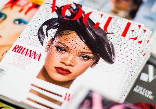 Magazine, vogue, magazine cover and rihanna (adapted) (Image by Charisse Kenion [CC0 Public Domain] via Unsplash)
