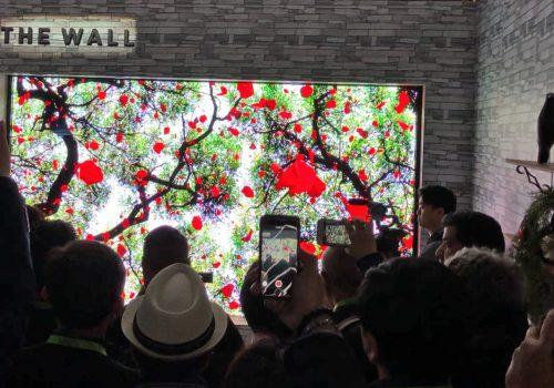 Samsung The Wall: MicroLED TV auf der CES 2018 präsentiert