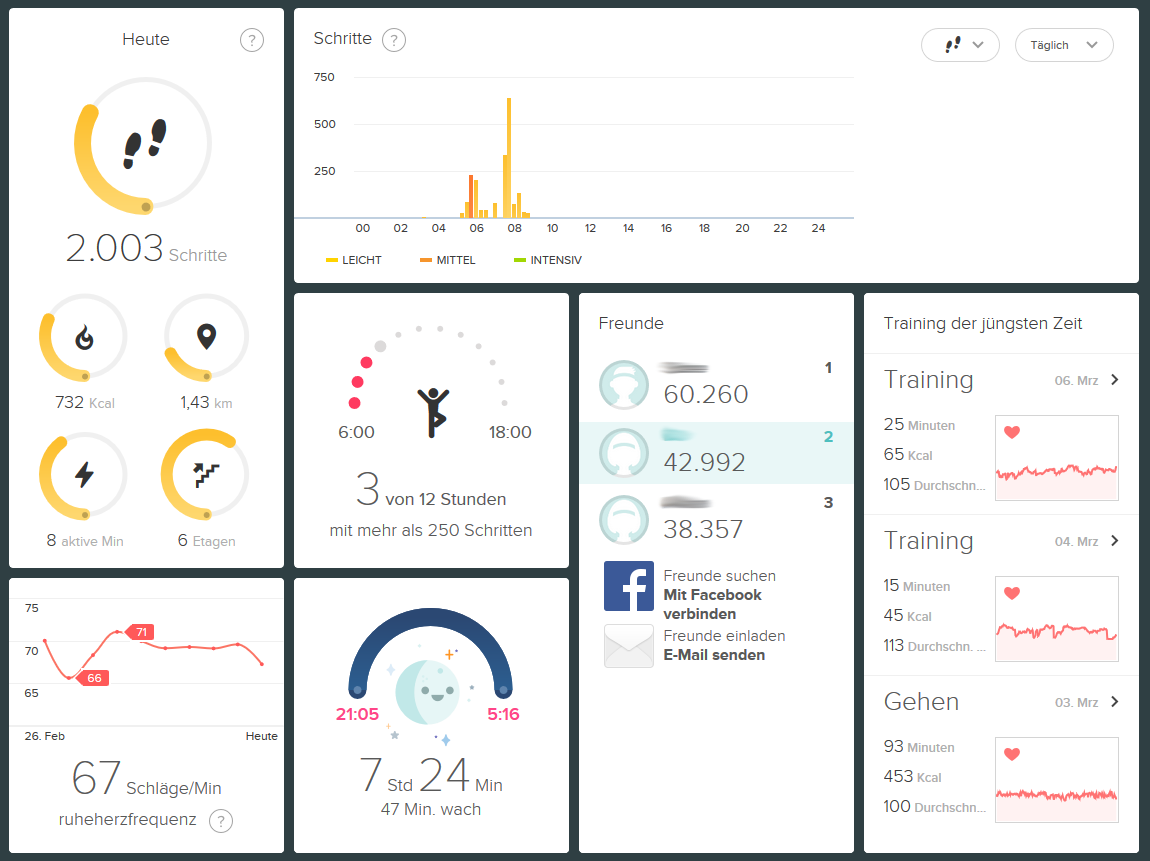 Fitbit Dashboard Browser