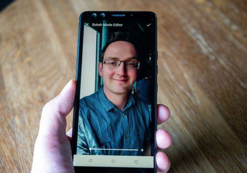 HTC U12+ Bokeh-Effekt Dual-Kamera