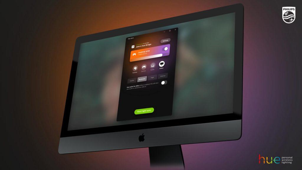 Philips Hue Sync iMac