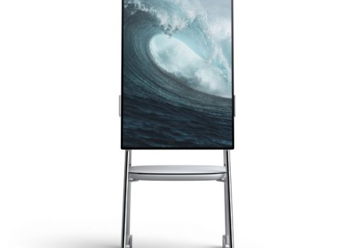 Surface Hub 2 Front_Stand_Portrait