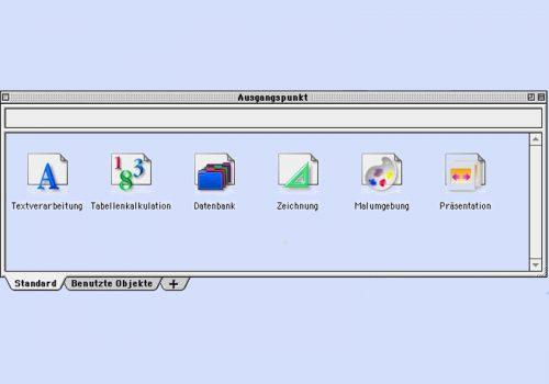 Ausgangspunkt Menue AppleWorks6