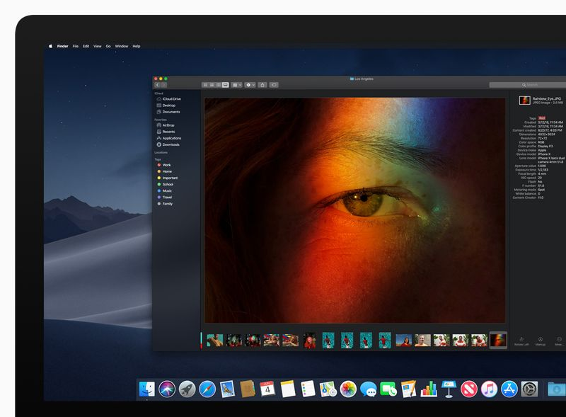 macOS Mojave iMac Dark Mode