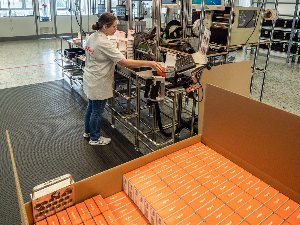 Gigaset Smartphone Verpackungsstation