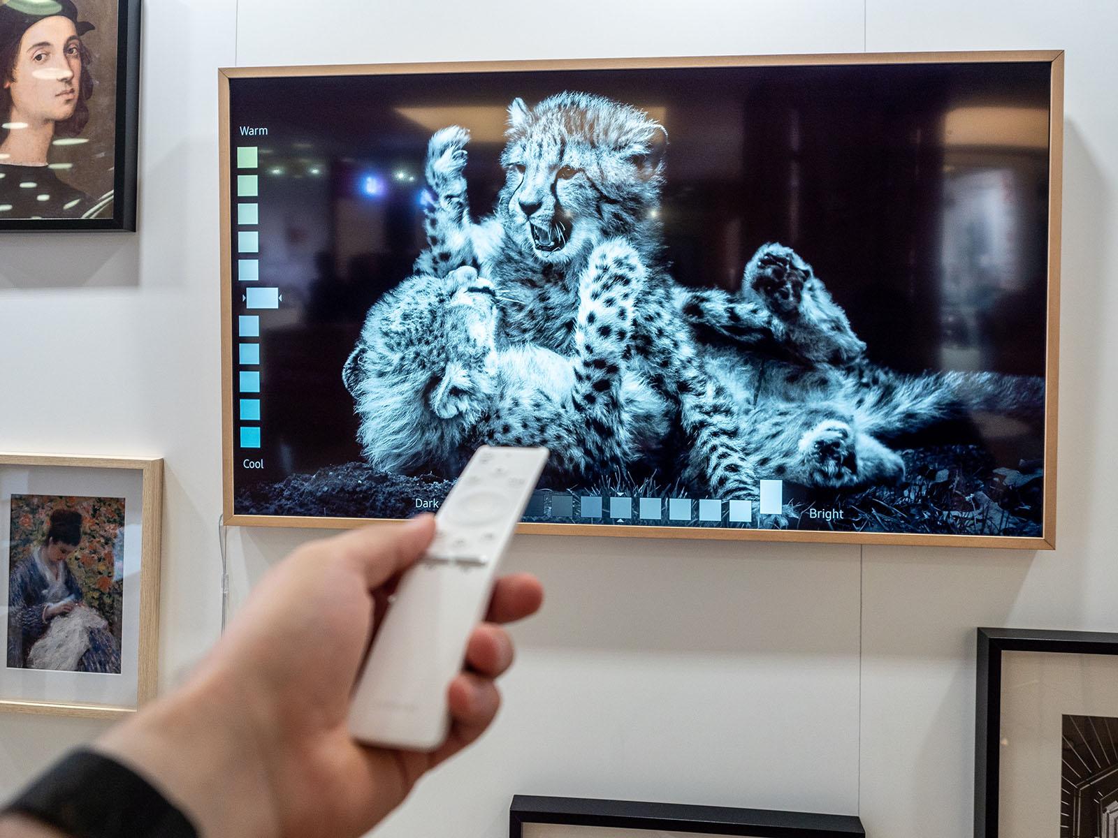 Samsung The Frame 2018 Dieser Bildhübsche Design Fernseher Hat