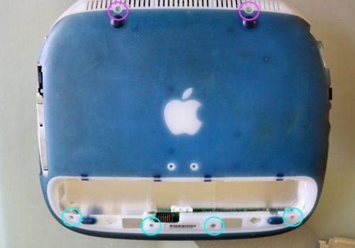 iBook Unterseite Torx-Schrauben