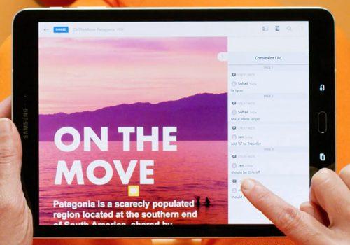 Adobe Acrobat DC Tablet PDF editieren