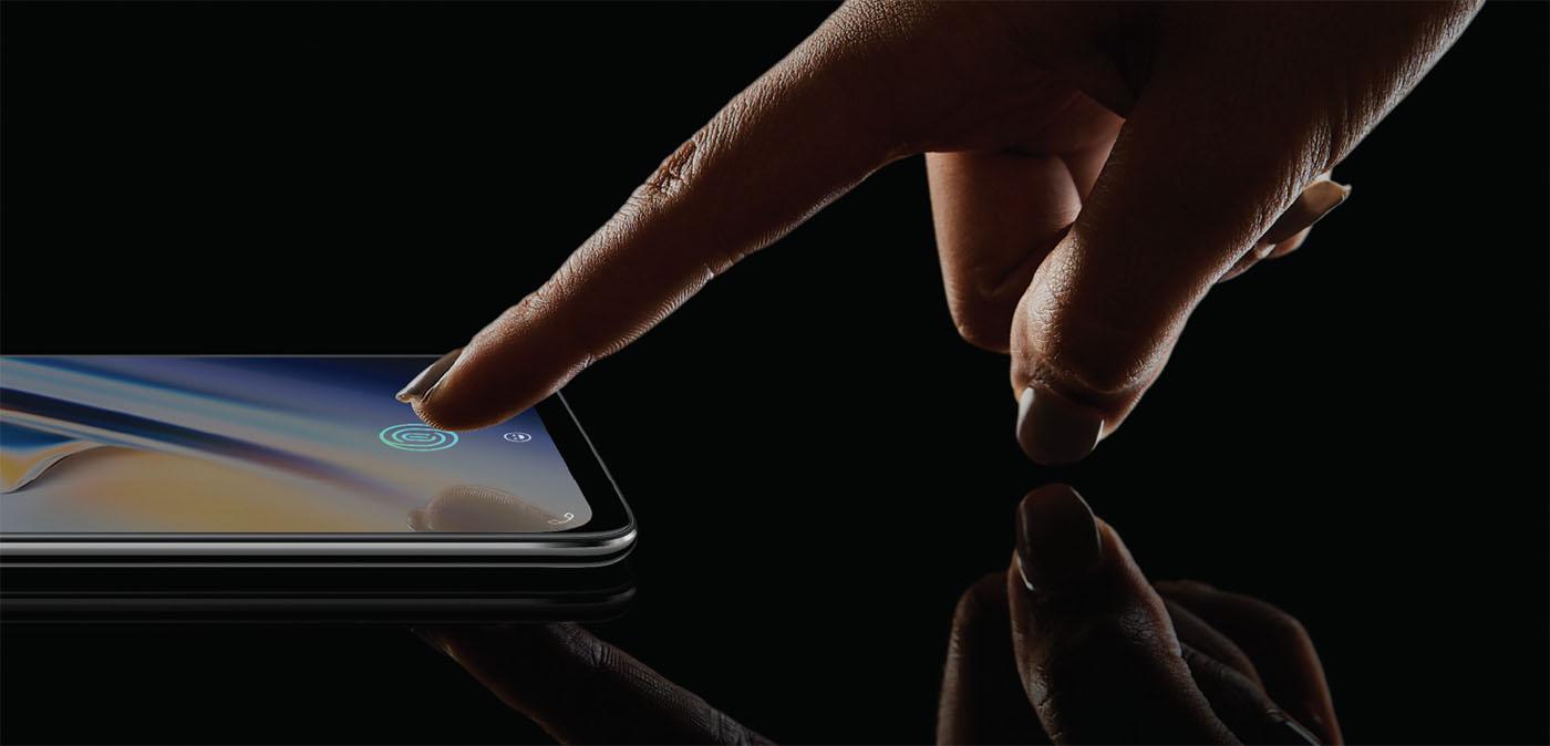 OnePlus 6T Fingerabdruckscanner im Display