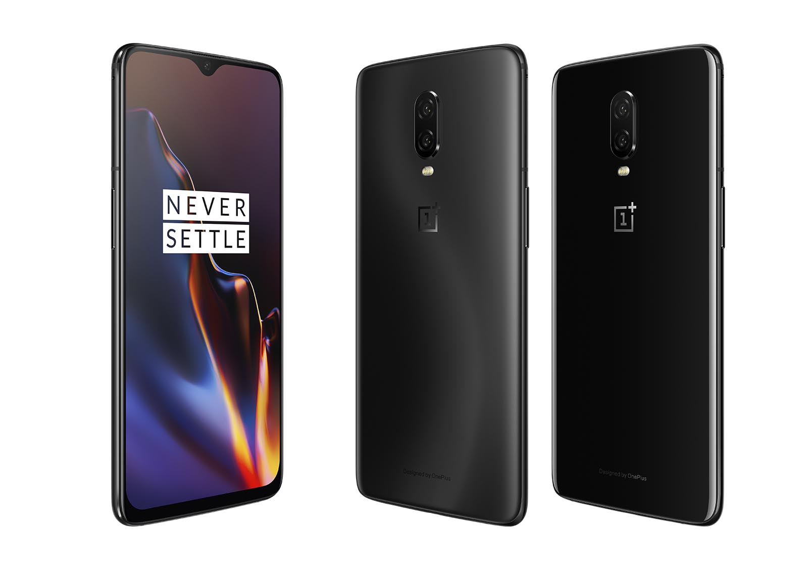 OnePlus 6T in Midnight Black und Mirror Black