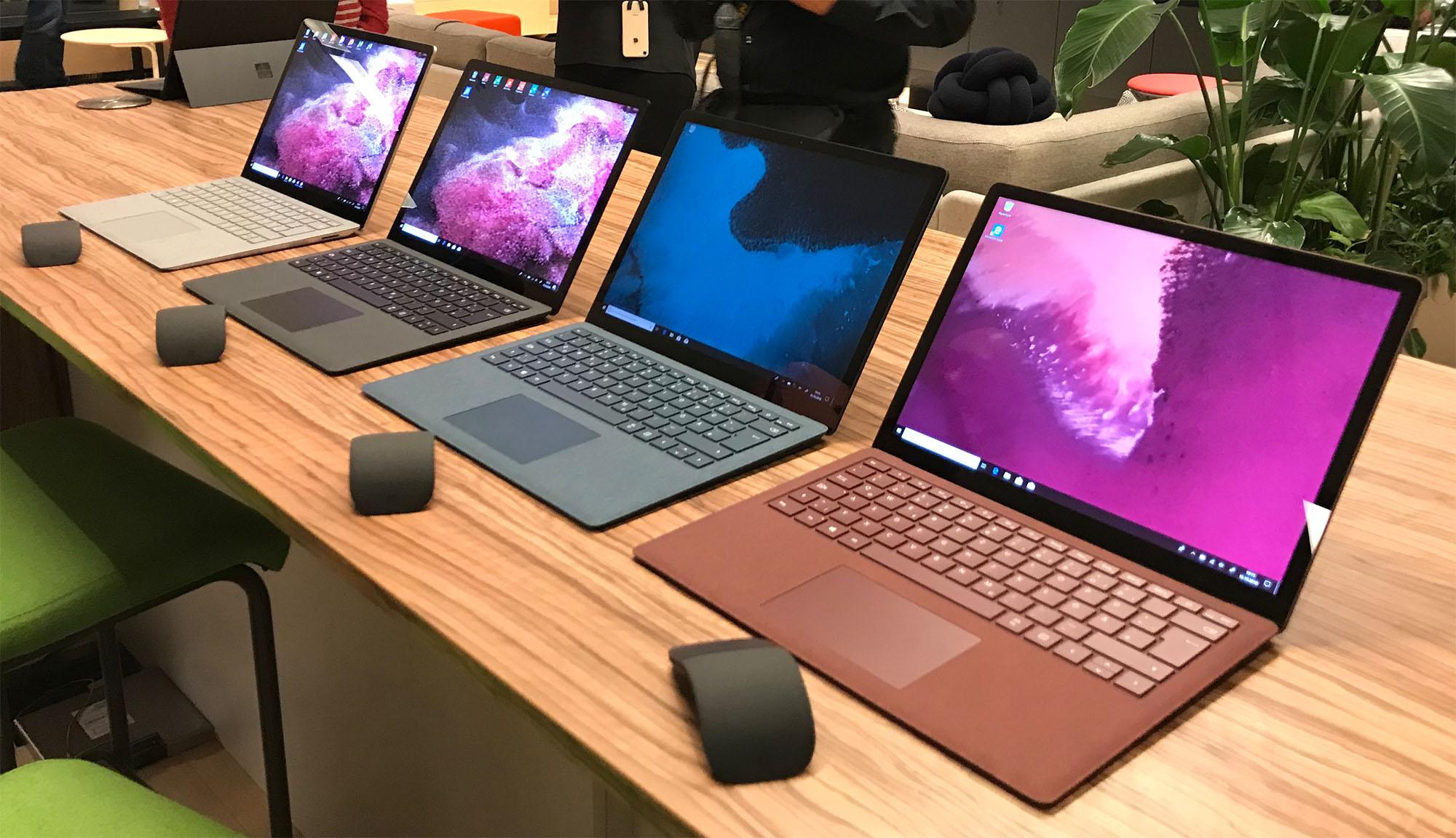 Microsoft Surface Laptop 2 Farben