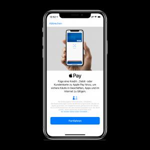 Apple Pay einrichten - Schritt 1