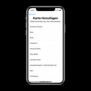 Apple Pay einrichten - Schritt 2