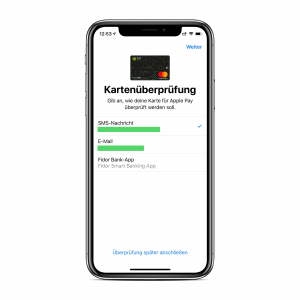 Apple Pay einrichten - Schritt 4
