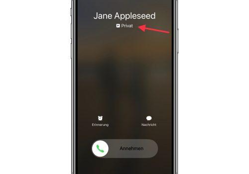 Anruf auf dem iPhone mit Dual-SIM