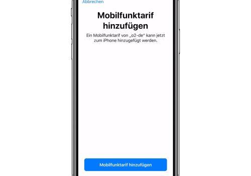 eSIM auf dem iPhone einrichten