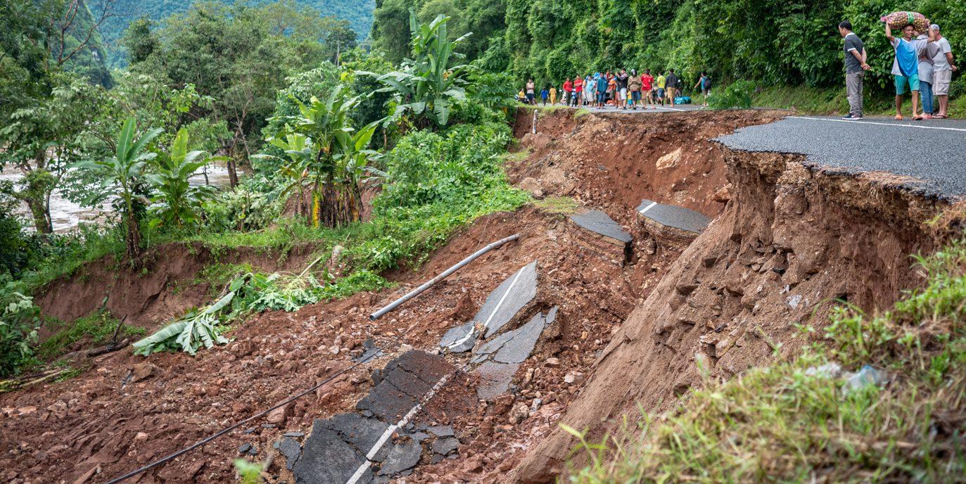 Laos Straßenbau