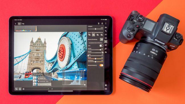 Canon EOS R DPP Express iPad Pro