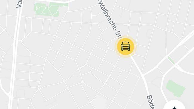 App von Moia im Test während der Fahrt