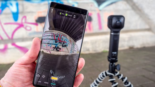 Vuze XR Camera App Live-Vorschau Android