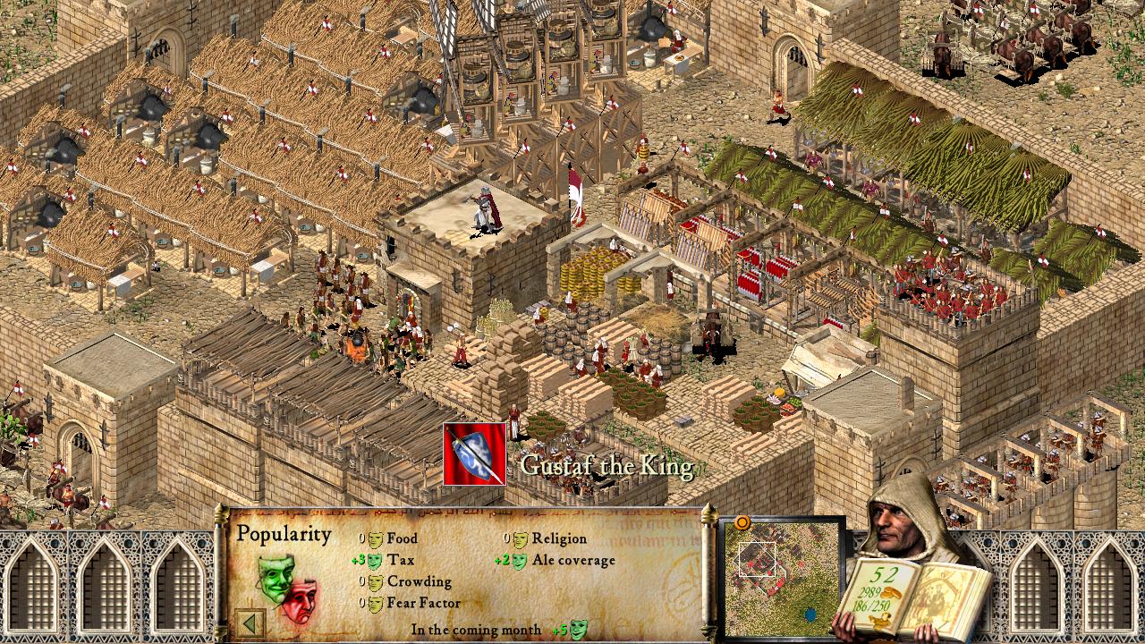 Dank seiner simplen 2D-Grafik sieht Stronghold Crusader HD auch 20 Jahre später noch gut aus.
