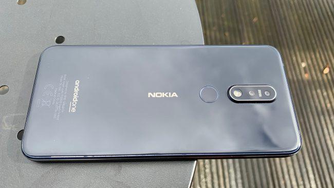 Nokia 7.1. Fingerabdrucksensor