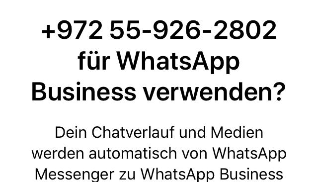WhatsApp Business Daten übernehmen