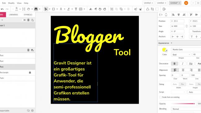 Mit Gravit Designer lassen sich leicht ansehnliche Resultate erzeugen. Selbst als Laie. / Screenshot Gravit Designer Image by Moritz Stoll