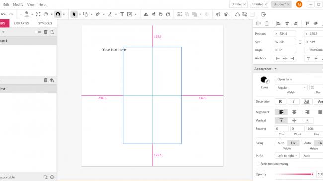 In Gravit Designer unterstützen smarte Hilfslinien und Clippings. / Screenshot Gravit Designer by Moritz Stoll