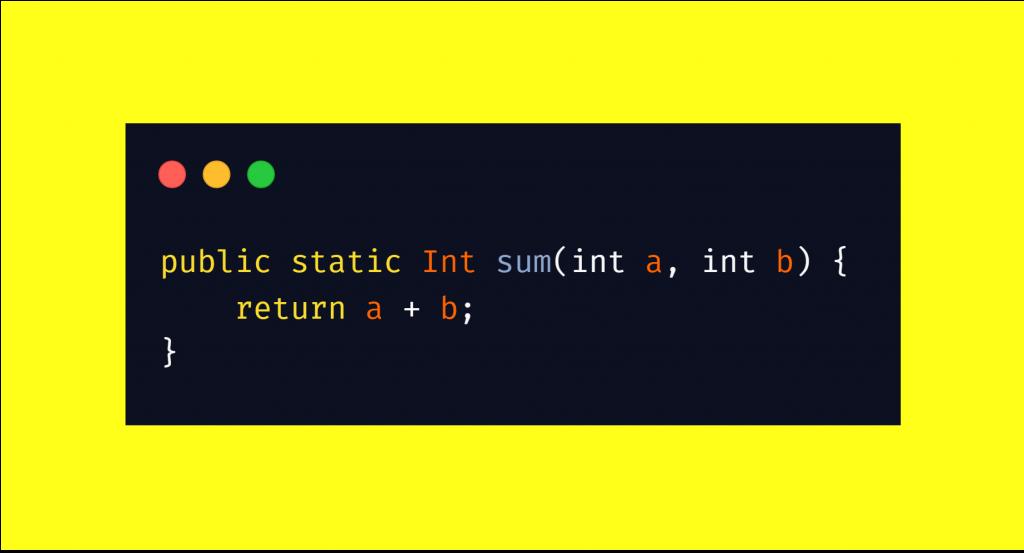 Die selbe Funktion in Java zu schreiben, benötigt für so eine einfache Funktion bereits drei Zeilen.