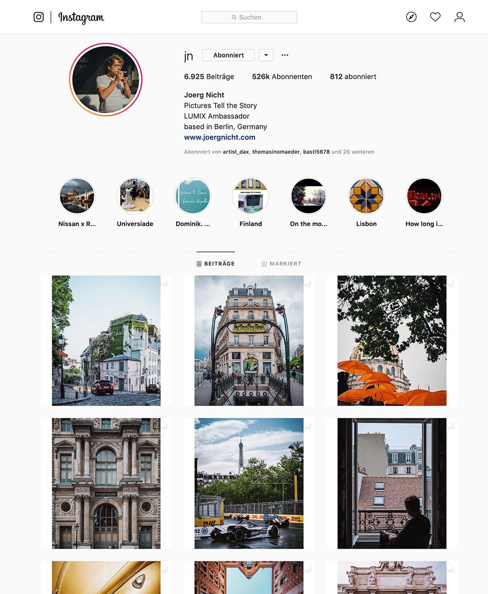 Jörg Nicht hat mit seinen Fotos großen Erfolg auf Instagram