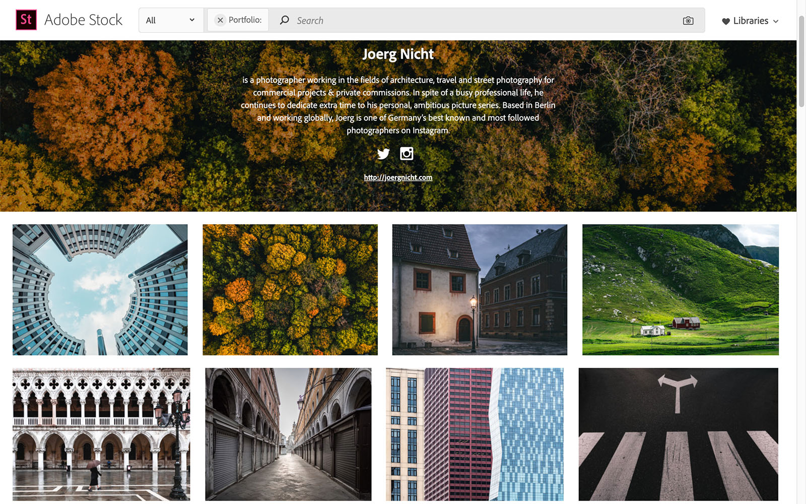 Jörg Nicht Adobe Stock Portfolio Screenshot