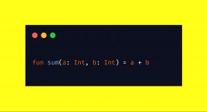 Um eine einfache Addition in einer Funktion zu schreiben, benötigt ihr in Kotlin gerade mal eine Zeile.