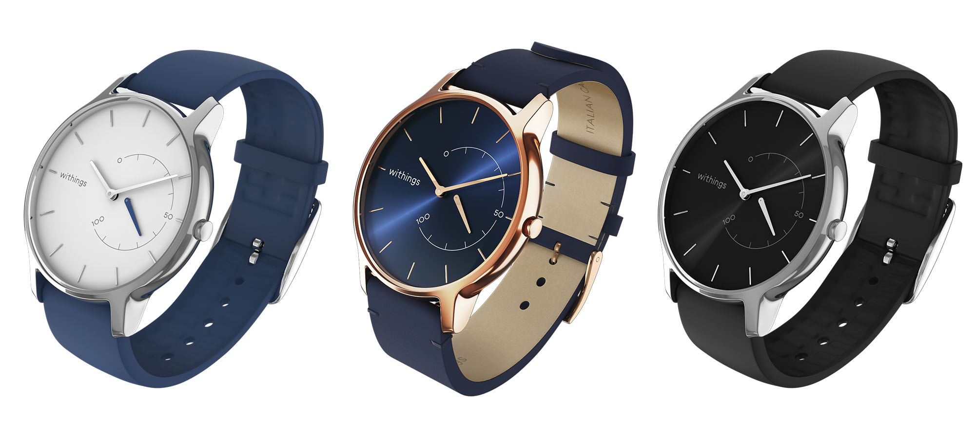 Withings Move Timeless Chic drei Farbvarianten