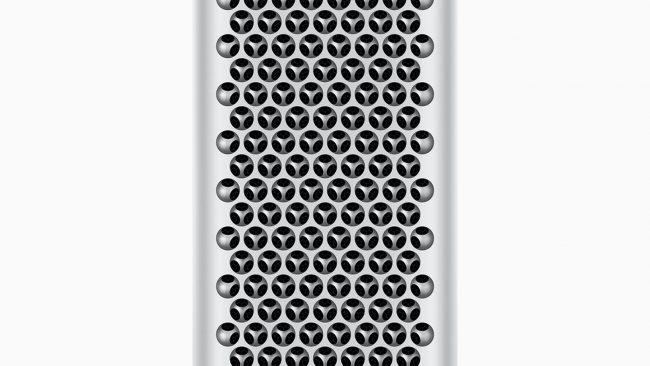 Frontansicht des Mac Pro
