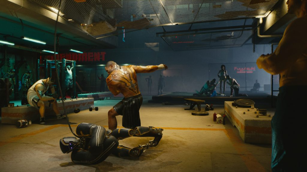Hightechn Fitness Studio in Cyberpunk.