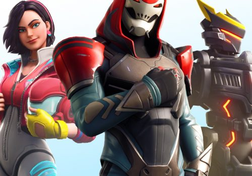 Fortnite World Cup Teaserimage - drei Charaktere nebeneinander / Image by IGDB / Epic Games